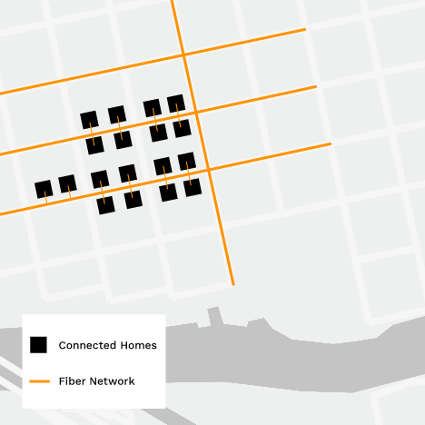 Fiber network map